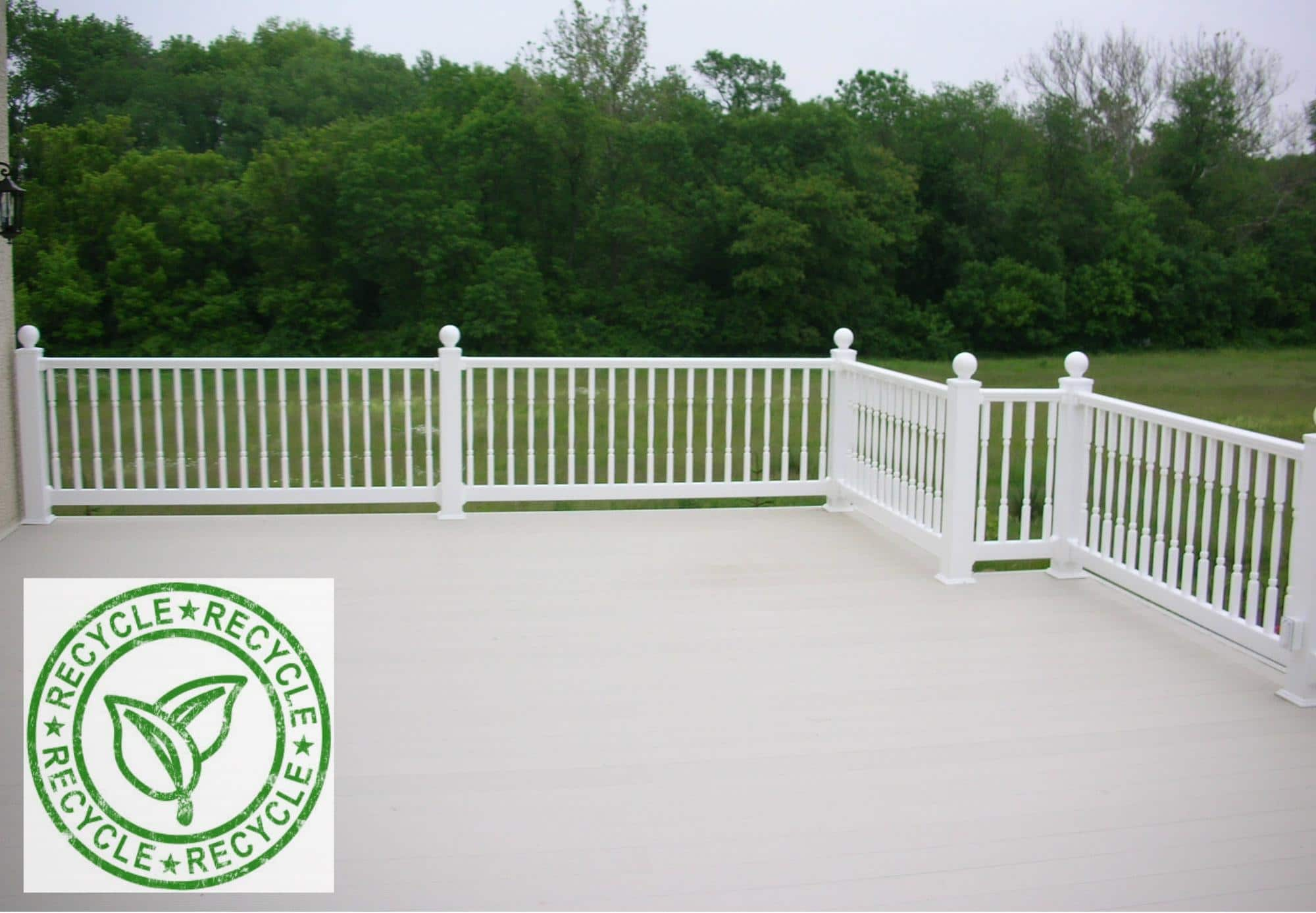 green aluminum decking material