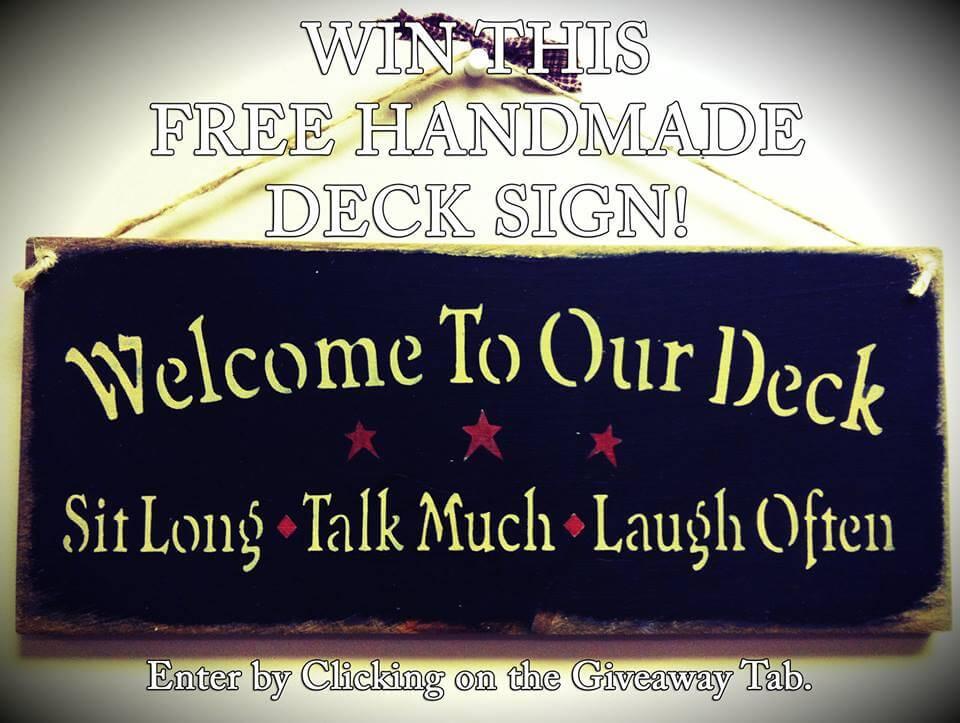 Win a Handmade Deck Sign from Wahoo Aluminum Decks!