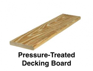 Pressure-Treated Decking Board