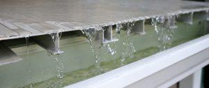 ariddek aluminum decking deck drainage system