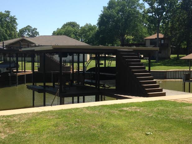 AridDek Aluminum Decking was recently installed on this Texas dock to replace rotting decking.