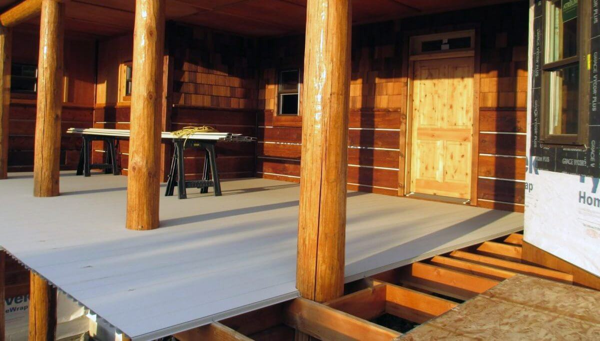 waterproof aluminum decking AridDek used for dry under deck area