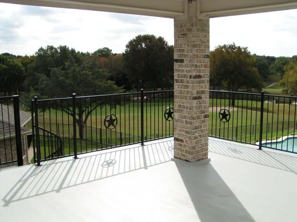 aluminum decking and deck railing on wahoo aluminum deck