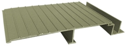 Waterproof aluminum decking Aridek Colors Sandstone
