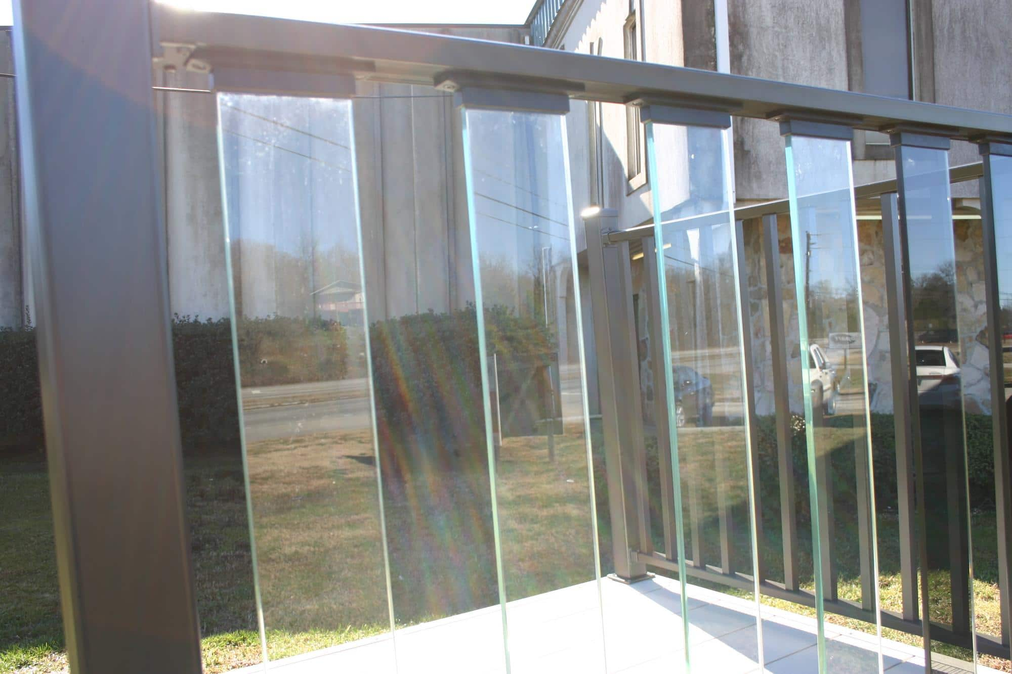 Glass railings for decks - Wahoo Glass Rail Is A Nearly Maintenance Free Aluminum Deck Railing System With Glass Pickets That Will Not Rot Splinter Or Weaken With Time