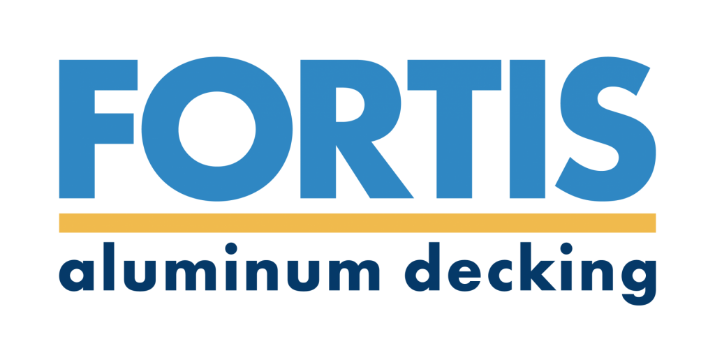 Fortis aluminum decking – interlocking decking boards new logo large