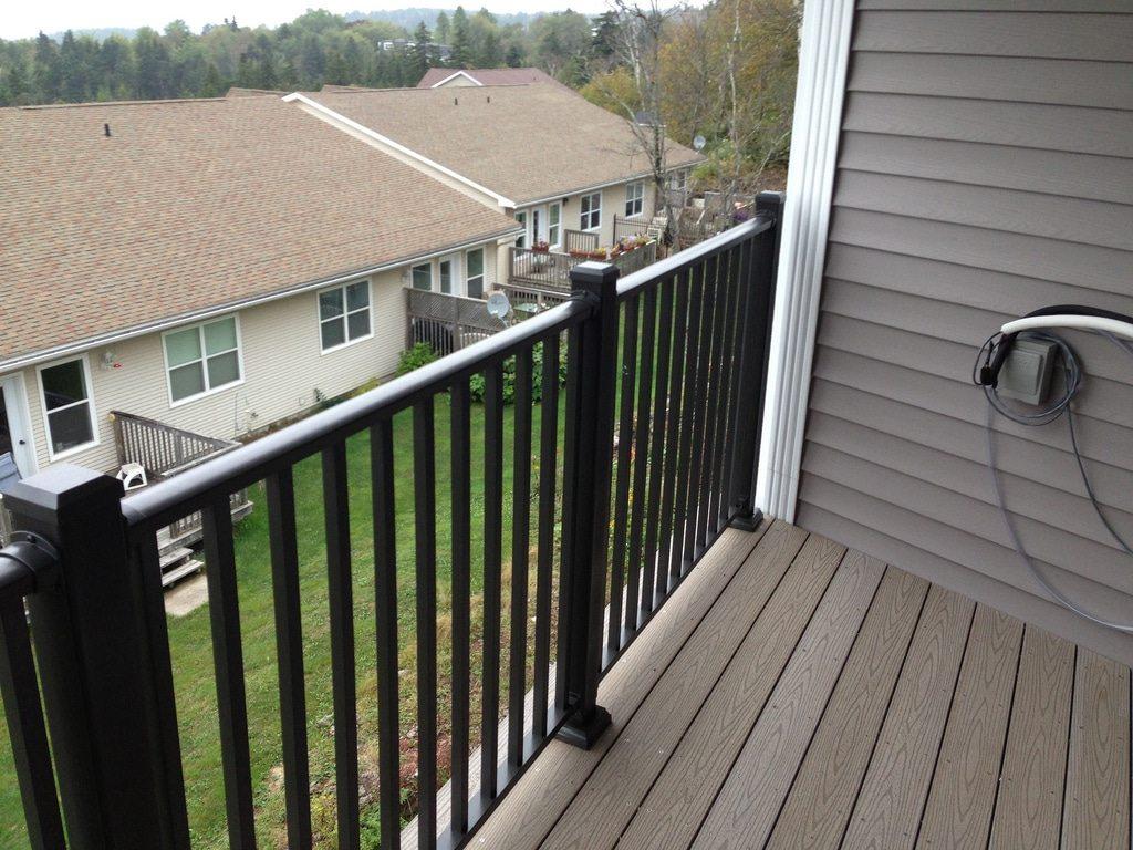 Multifamily aluminum decking balcony systems