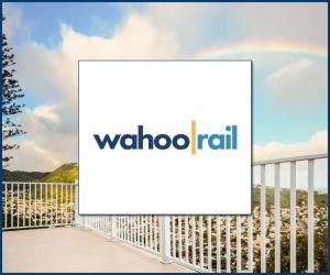 aluminum rail deck railing wahoo rail logo
