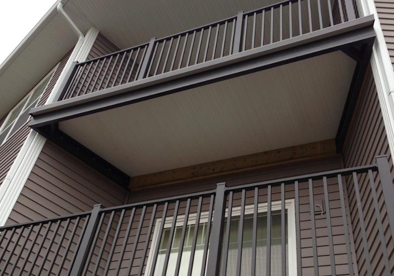 pre-fabricated aluminum balcony systems