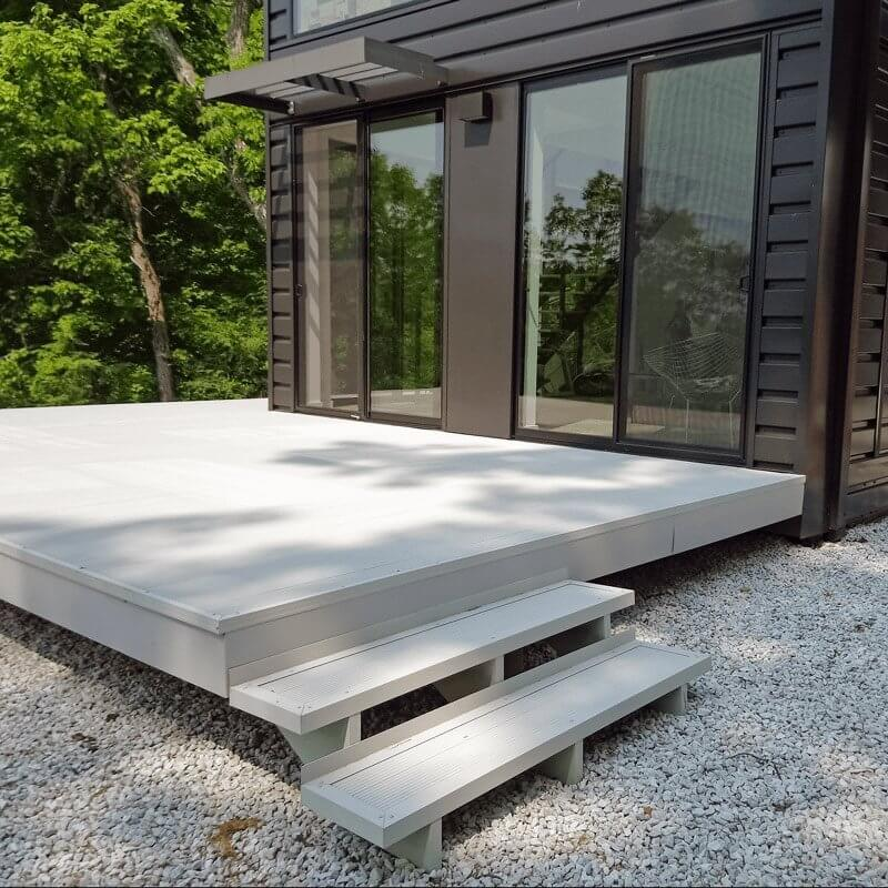 AridDek Waterproof Deck System On A Modern Home