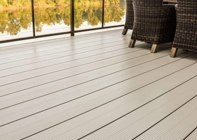 Fortis Aluminum Decking On A Lakeside Dock