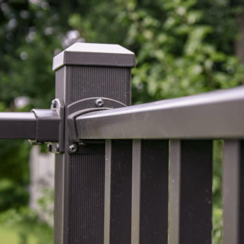 Wahoo Rail Post And Handrail In Antique Bronze