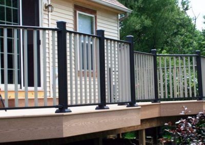 wahoo rail aluminum deck railing antique bronze 4