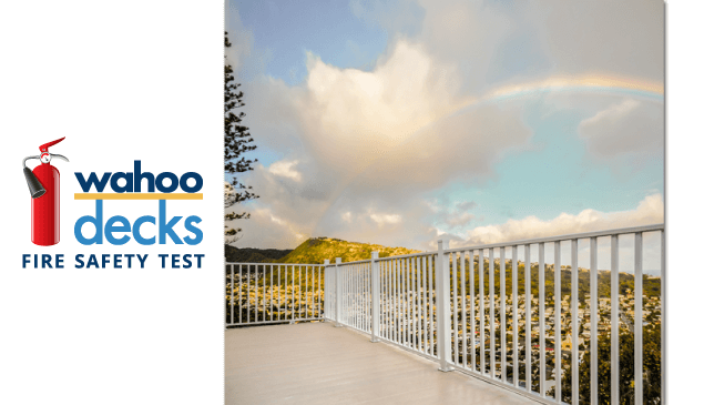 Wahoo Decks Puts Aluminum Deck Fire Safety to the Test | Wahoo Decks Aluminum Decking & Deck Railing