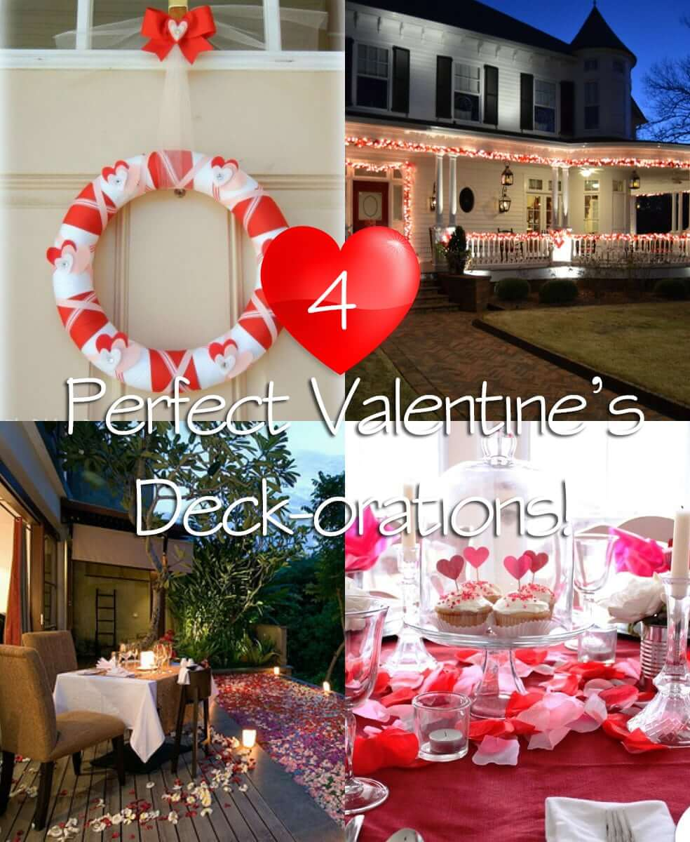 Deck Design Ideas Perfect Valentine's Deckorations | Wahoo Decks Aluminum Decking & Deck Railing